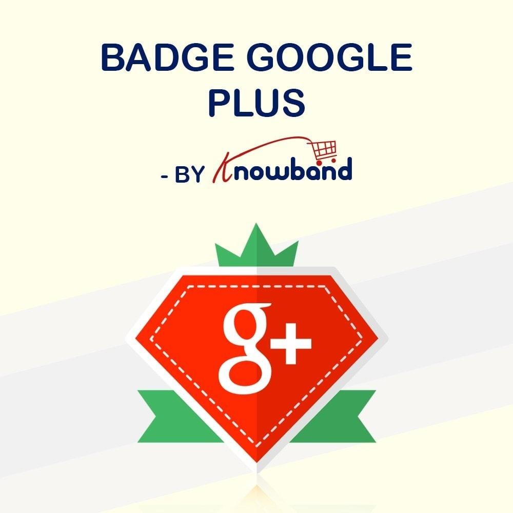 module - Widgets réseaux sociaux - Knowband - Badge Google Plus - 1