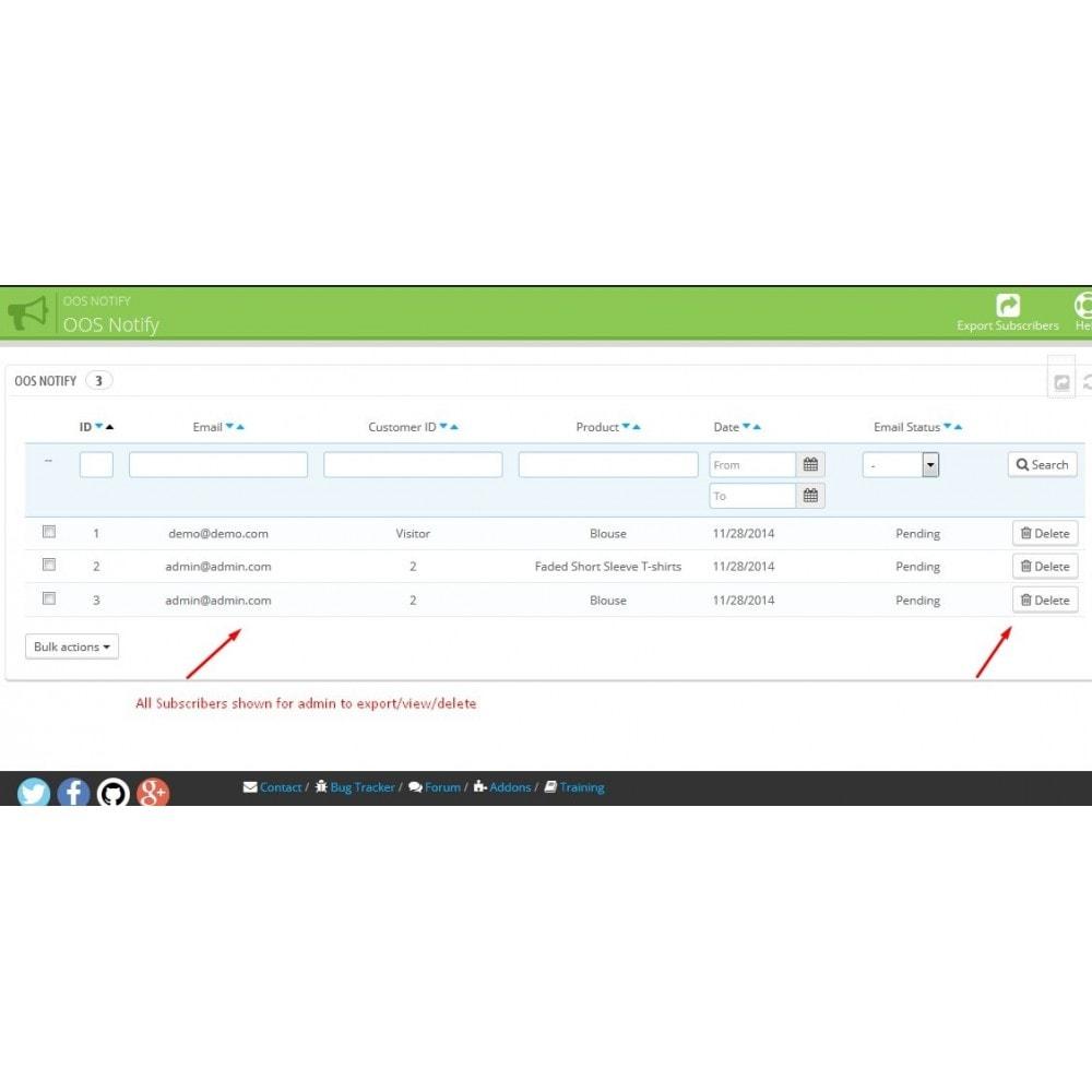 module - E-mails & Notifications - Notification de stock - 8