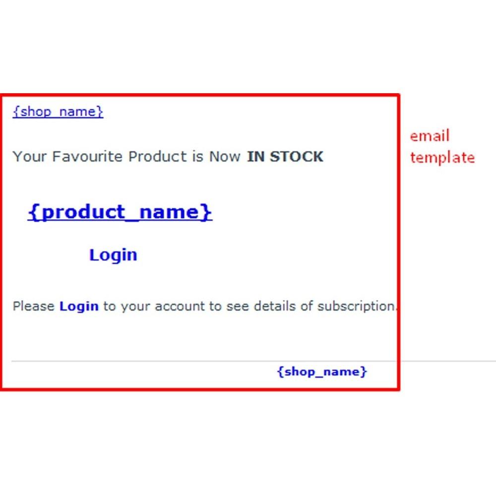 module - E-mails & Notifications - Notification de stock - 11