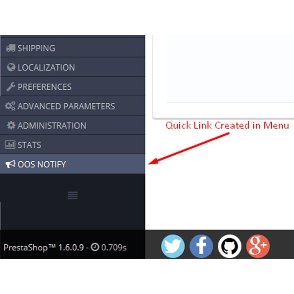 module - E-mails y Notificaciones - Notificación Fuera de Stock - 5
