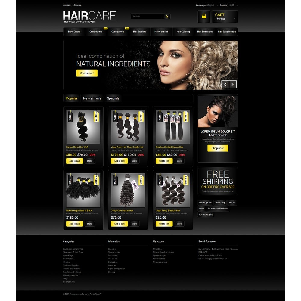 theme - Moda y Calzado - HairCare - The Biggest Choice On The Web - 2