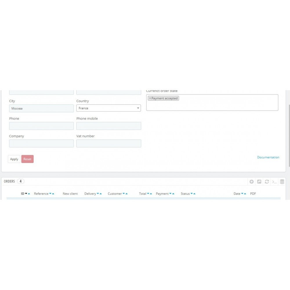 module - Pesquisa & Filtros - Order search in admin panel - 1