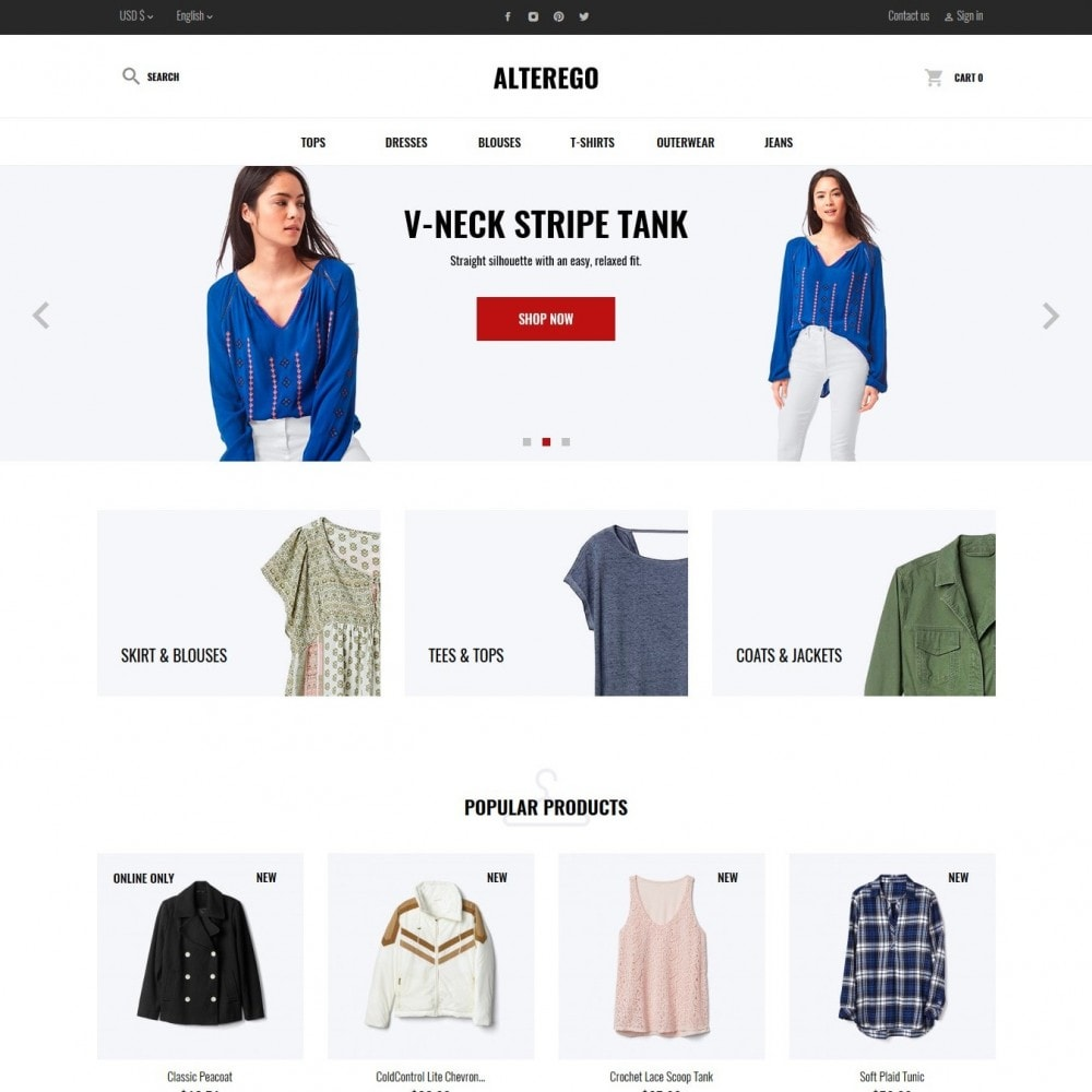 theme - Moda & Calzature - Alterego Fashion Store - 2