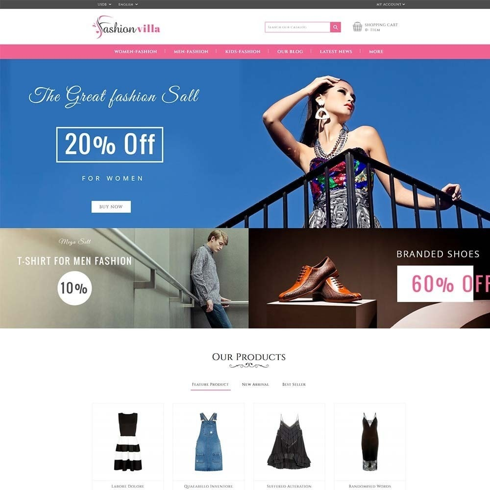 theme - Fashion & Shoes - Fashion Villa - 2