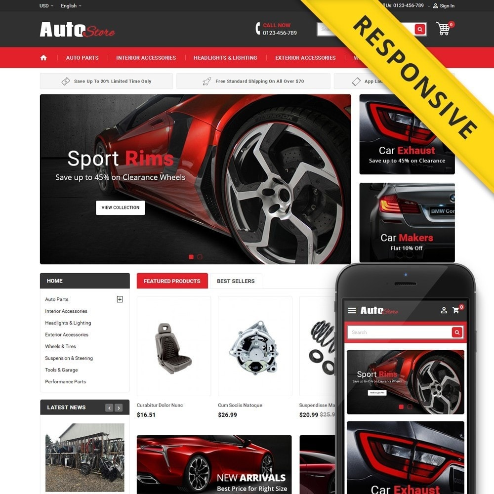 theme - Carros & Motos - Auto Store - 1