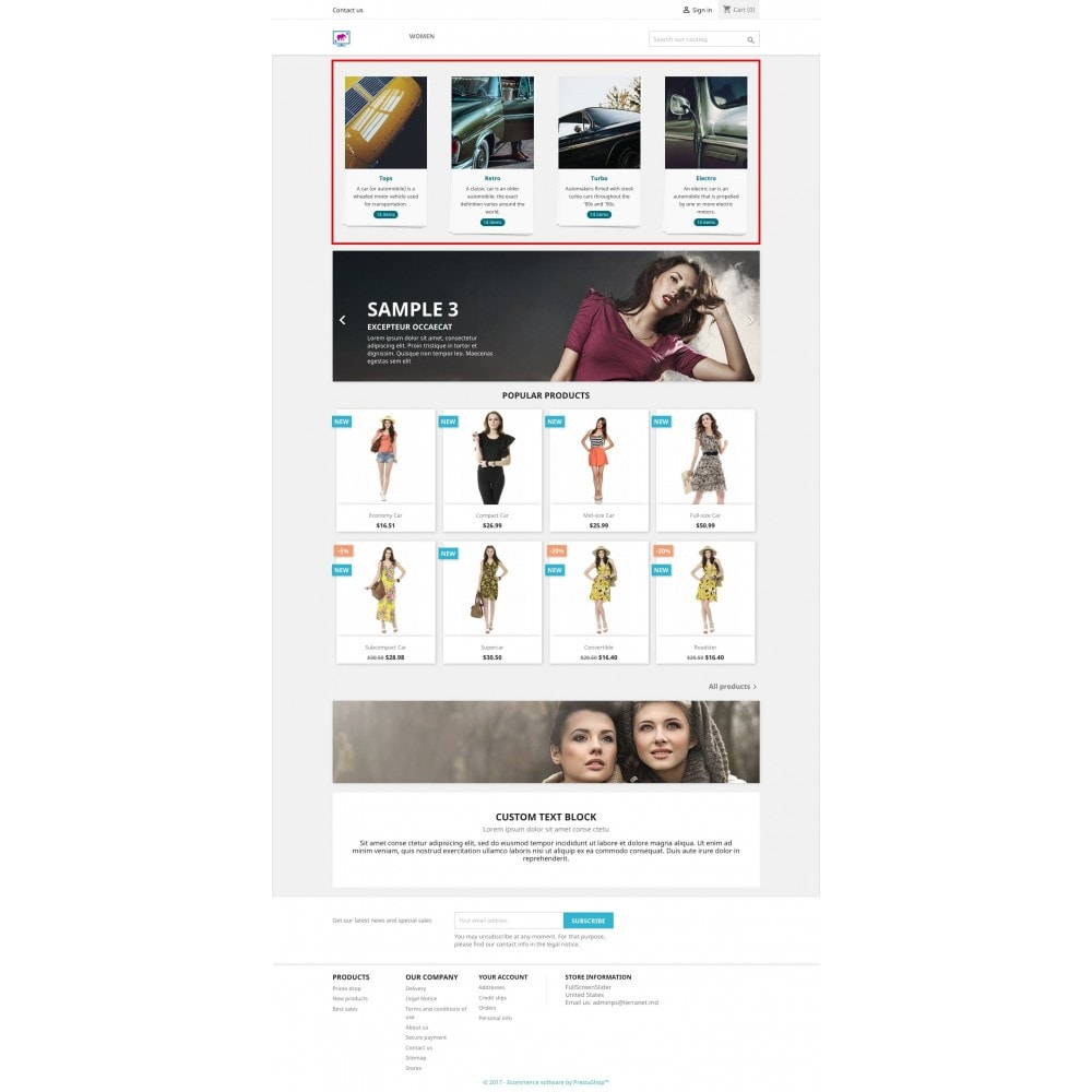 module - Sliders & Galerias - Fullscreen responsive slider of products catalog - 1