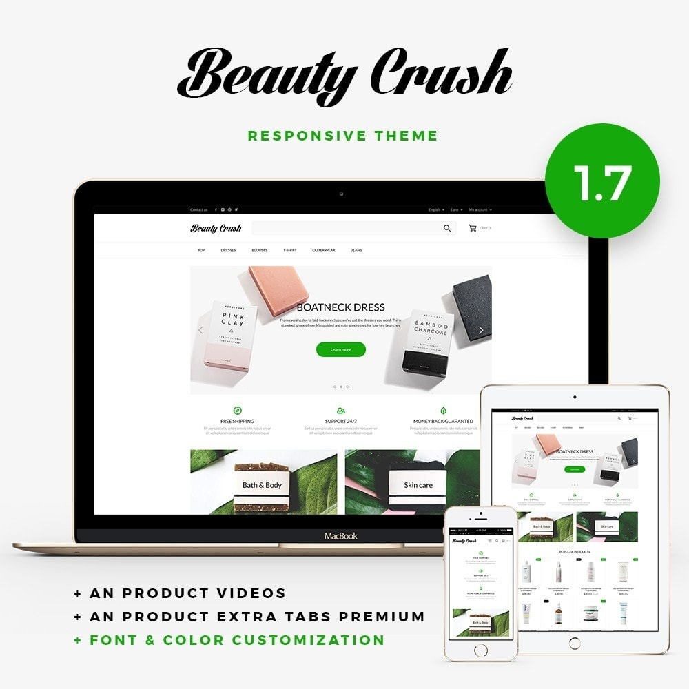 theme - Health & Beauty - Beauty Crush Cosmetics - 1