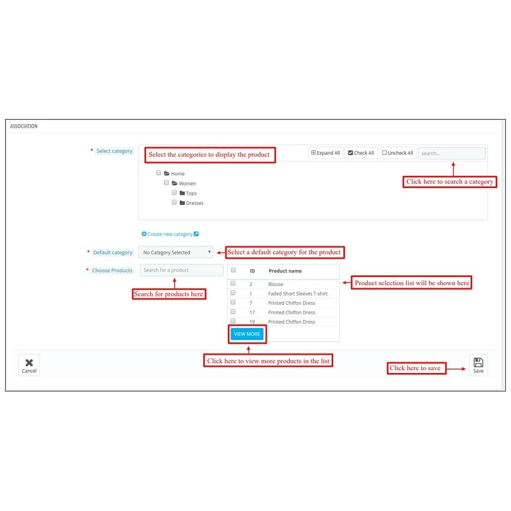 module - Edition rapide & Edition de masse - Webkul Multi Product Manager - Bulk Assign Feature - 5