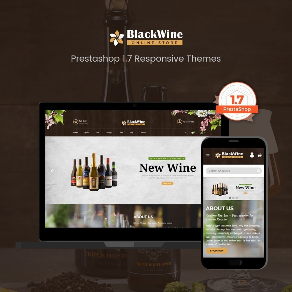 theme - Temas PrestaShop - Wine Stores - 1