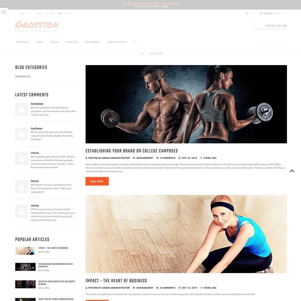 theme - Sport, Loisirs & Voyage - Crosston - Magasin de vêtements de fitness PrestaShop - 5