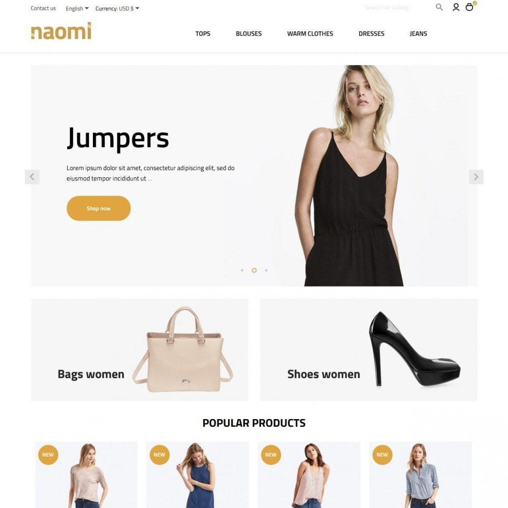 theme - Moda y Calzado - Naomi Fashion Store - 2