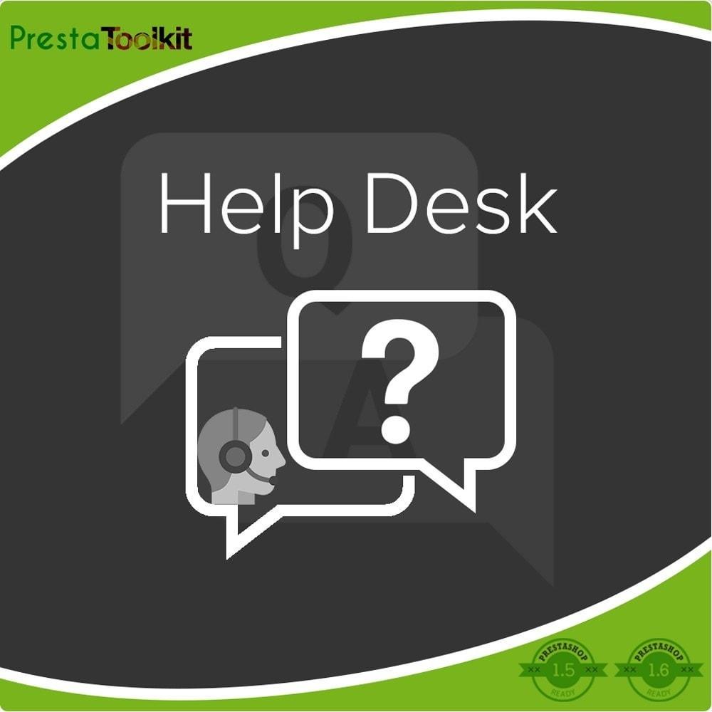 module - Support & Chat Online - Service d'assistance, Gestion de support - 1