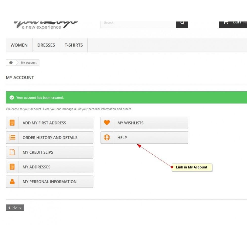 module - Supporto & Chat online - Help desk, Gestione del supporto - 9