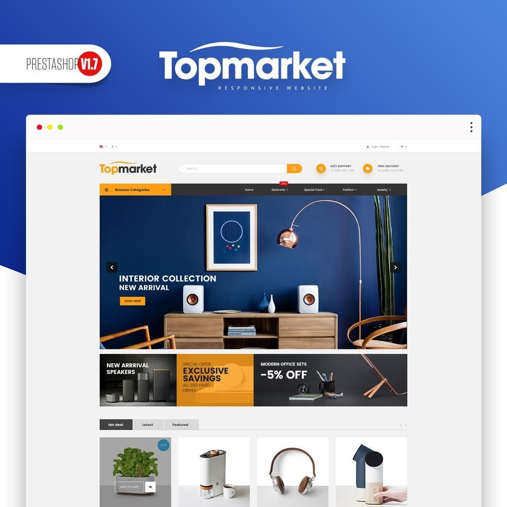 theme - Elettronica & High Tech - TopMarket Store - 1