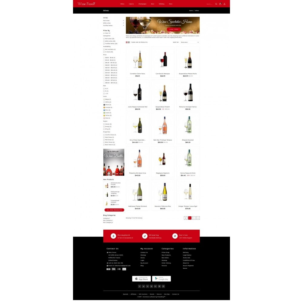 theme - Drink & Wine - Wine Forest Store - 3