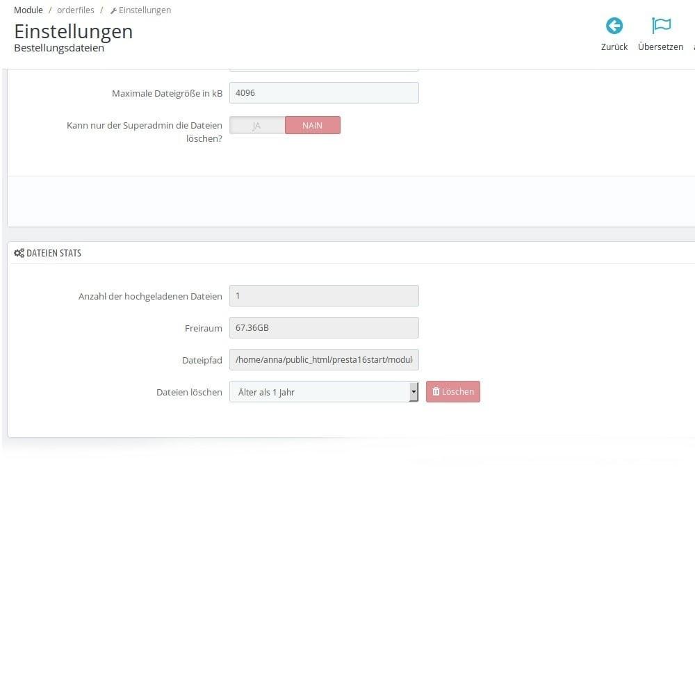 module - Anmeldung und Bestellvorgang - Bestellungsdateien Dateien mit Bestellungen verknüpfen - 5