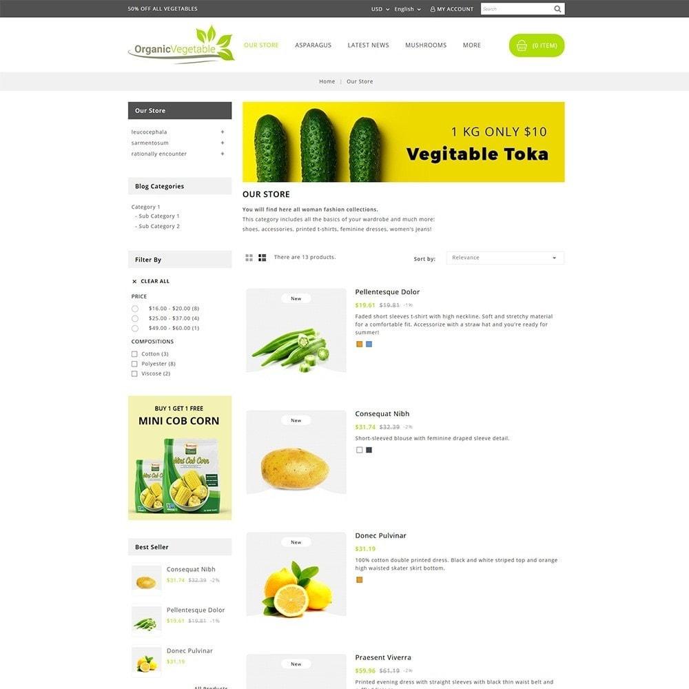 theme - Gastronomía y Restauración - Organic Vegetable Store - 4