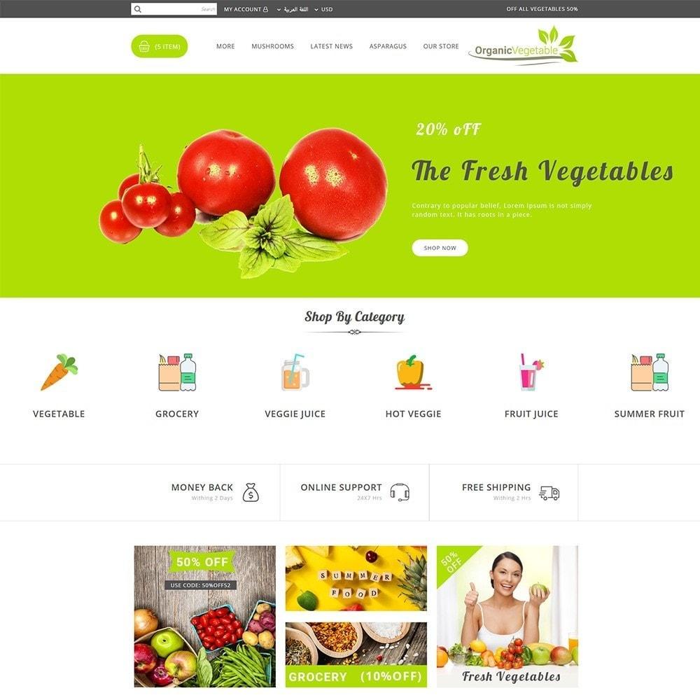 theme - Gastronomía y Restauración - Organic Vegetable Store - 12
