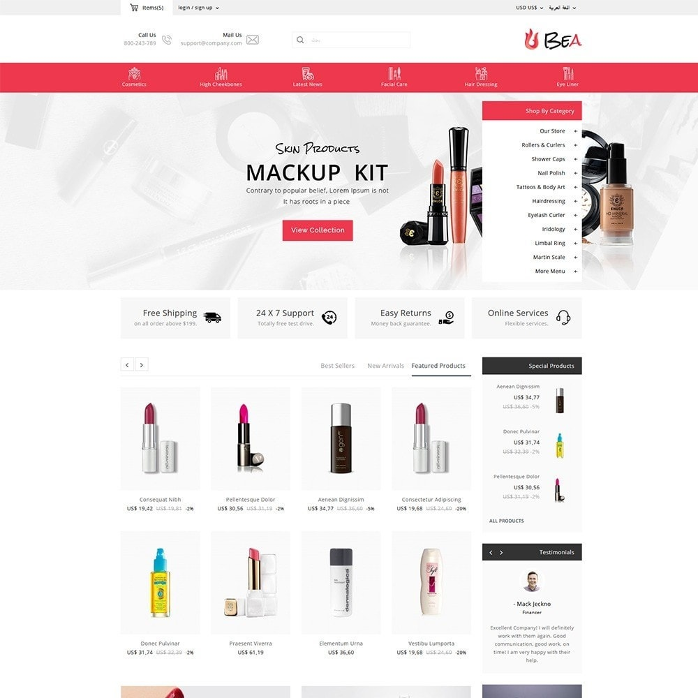 theme - Zdrowie & Uroda - Beashop Beauty Store - 12