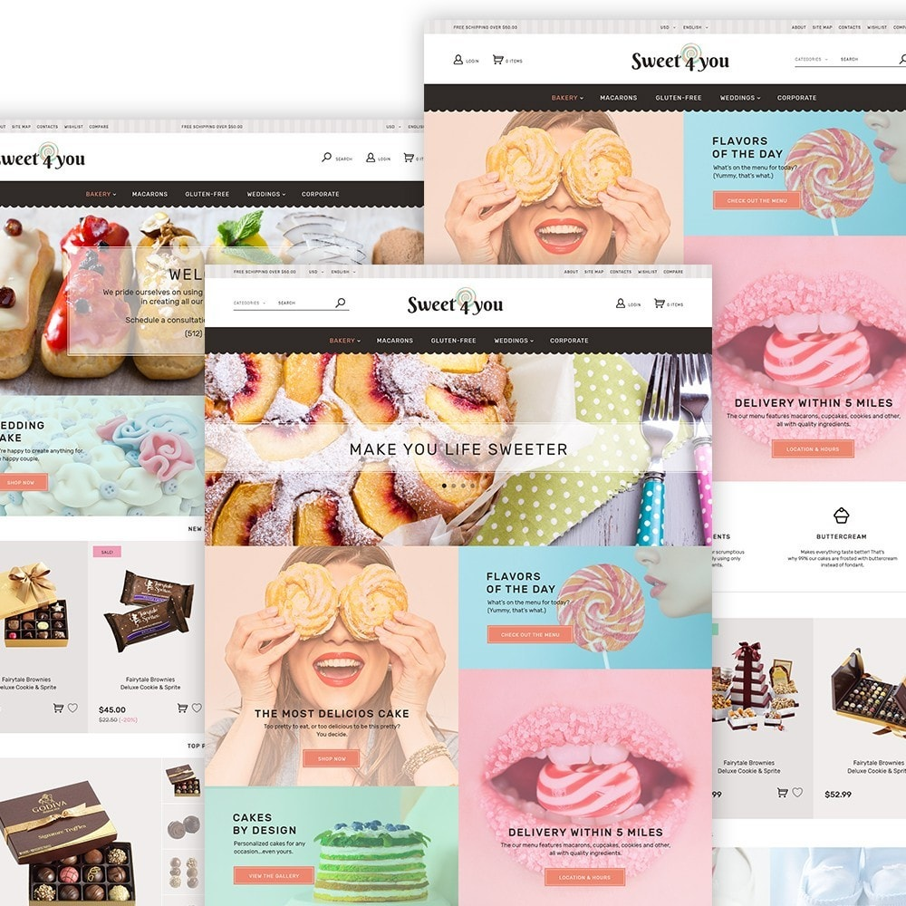 theme - Alimentos & Restaurantes - Sweet4you - Sweet Shop - 2