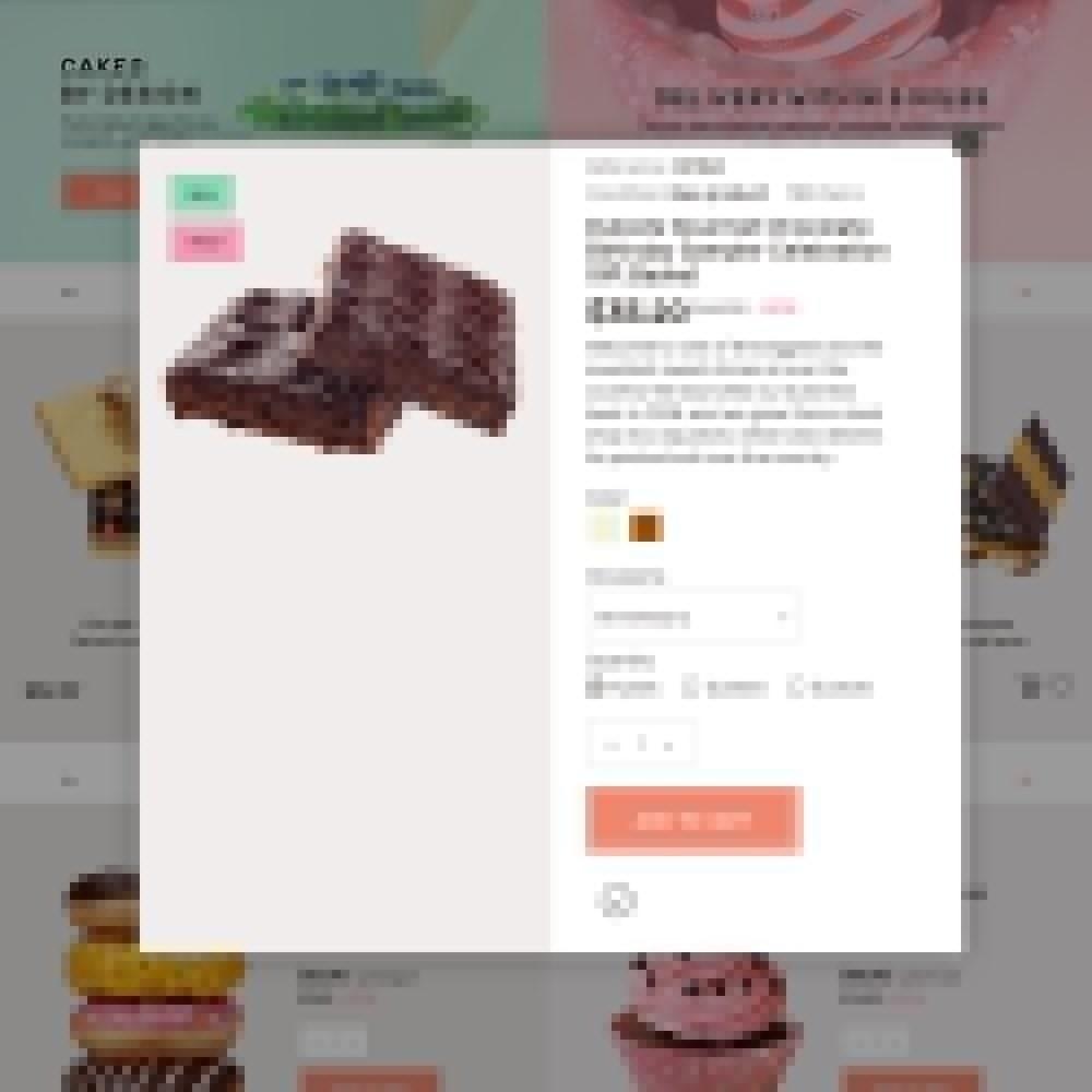 theme - Gastronomía y Restauración - Sweet4you - para Sitio de Tienda de Dulces - 6
