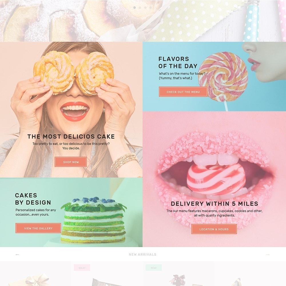 theme - Gastronomía y Restauración - Sweet4you - para Sitio de Tienda de Dulces - 4