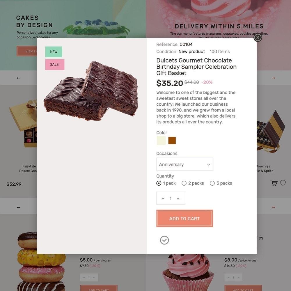 theme - Продовольствие и рестораны - Sweet4you - шаблон по продаже сладостей - 6