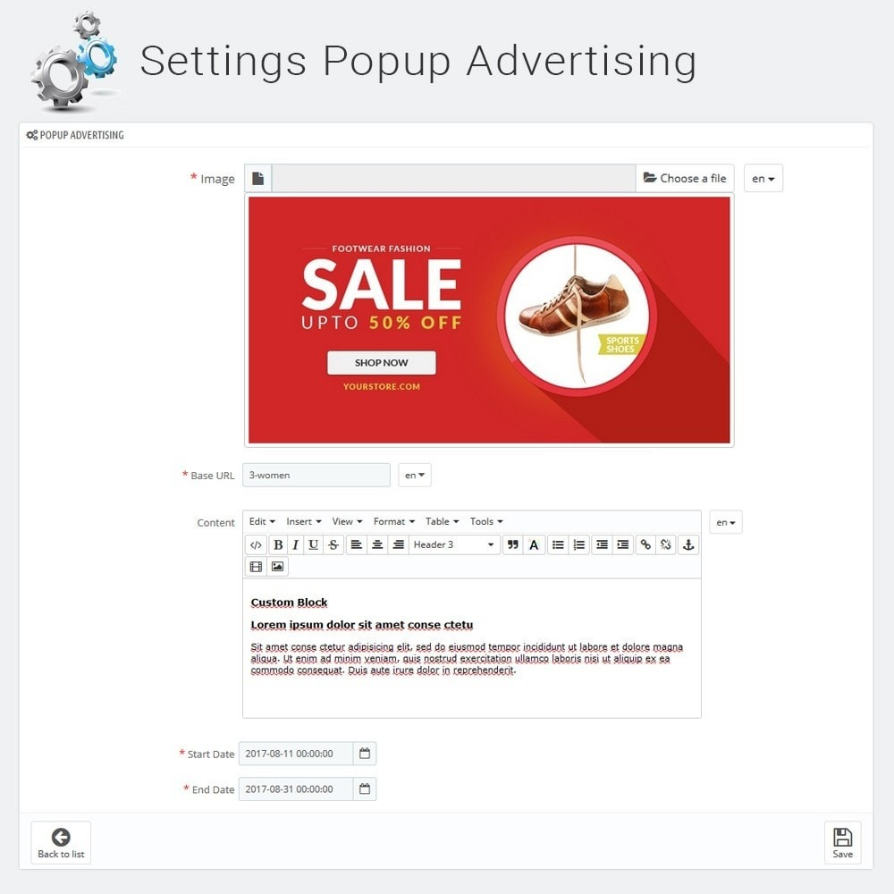 module - Pop-up - Promotion Popup Notification Banner & Video - 5