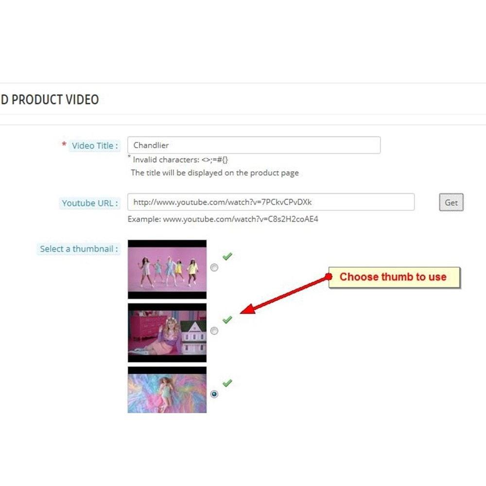 module - Vidéo & Musique - Vidéos du produit Youtube - 8