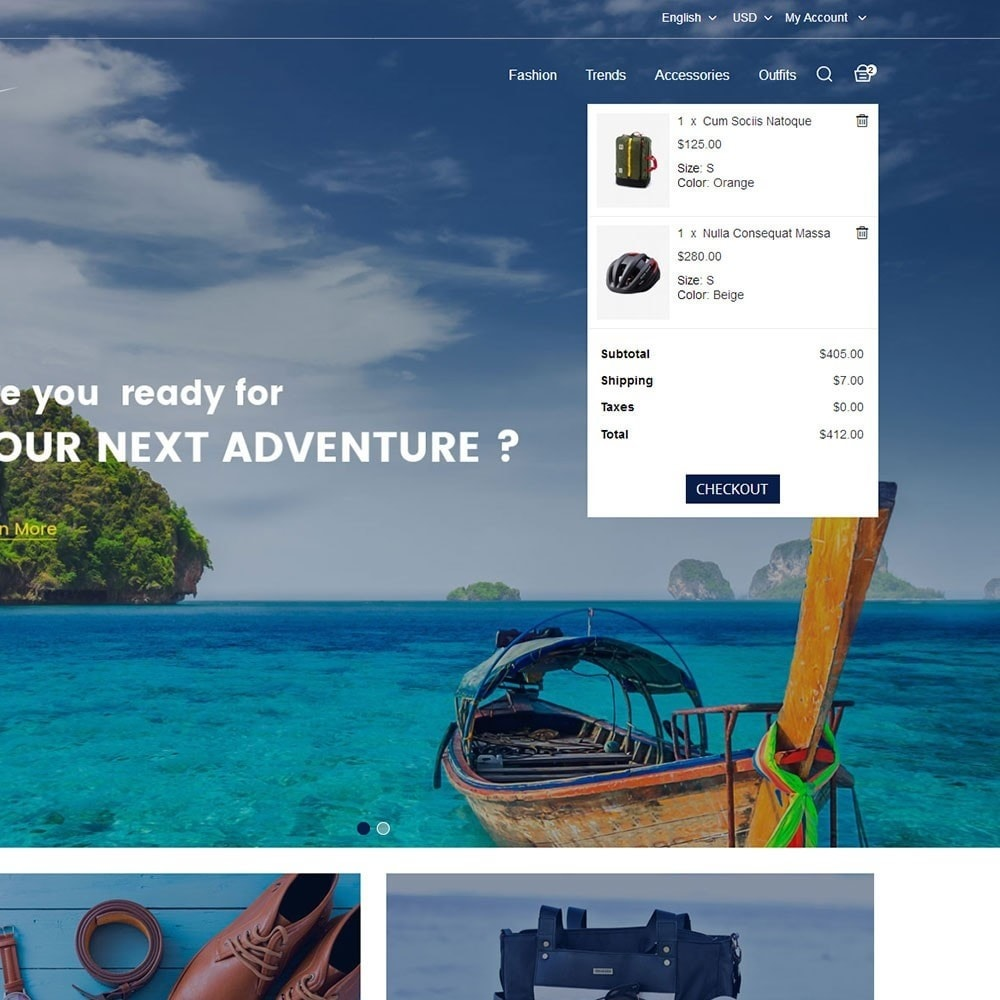 theme - Sports, Activities & Travel - Travel Store - 7