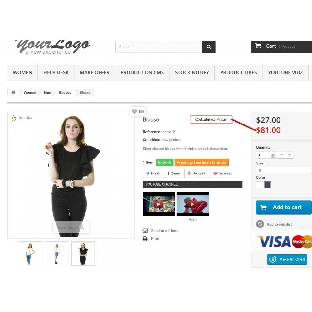 module - Zusatzinformationen & Produkt-Tabs - Preisrechner, Preisaktualisierung - 2