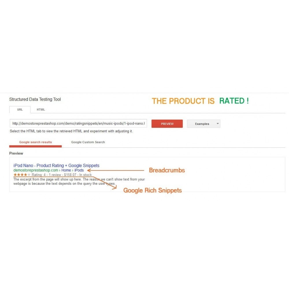 module - SEO - Product Rating + Google Snippets, Breadcrumb, Rich Pins - 4