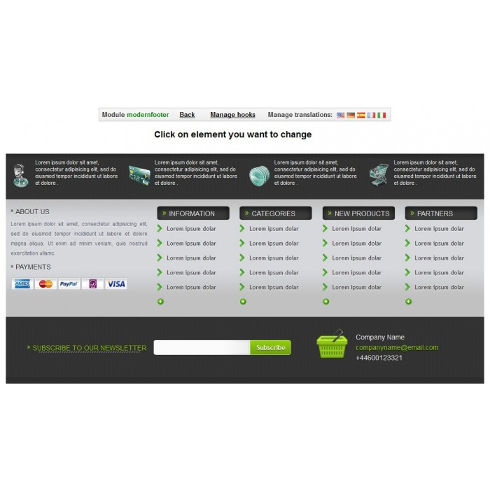 module - Page Customization - Modern Footer - 2