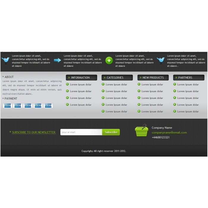 module - Personalisering van pagina's - Modern Footer - 4