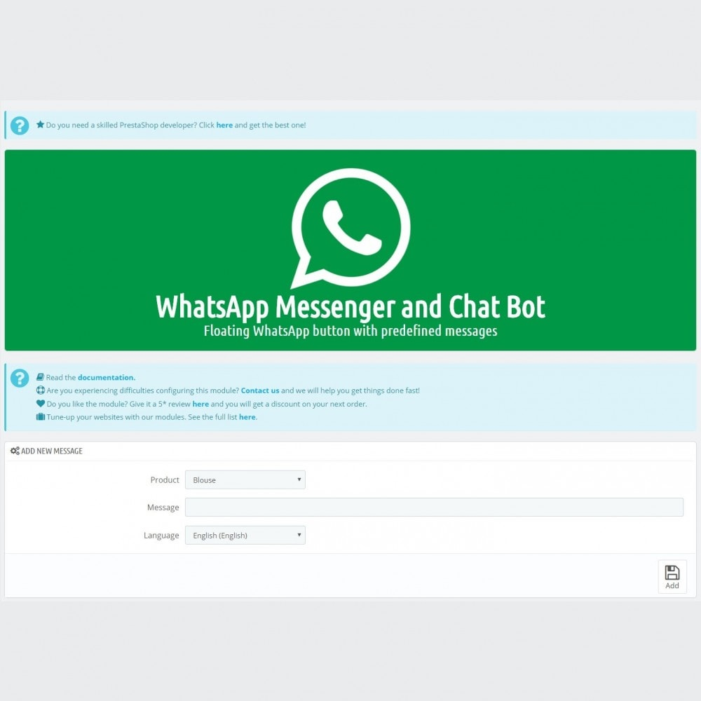 module - Supporto & Chat online - WhatsApp Messenger and Chat Bot - 5