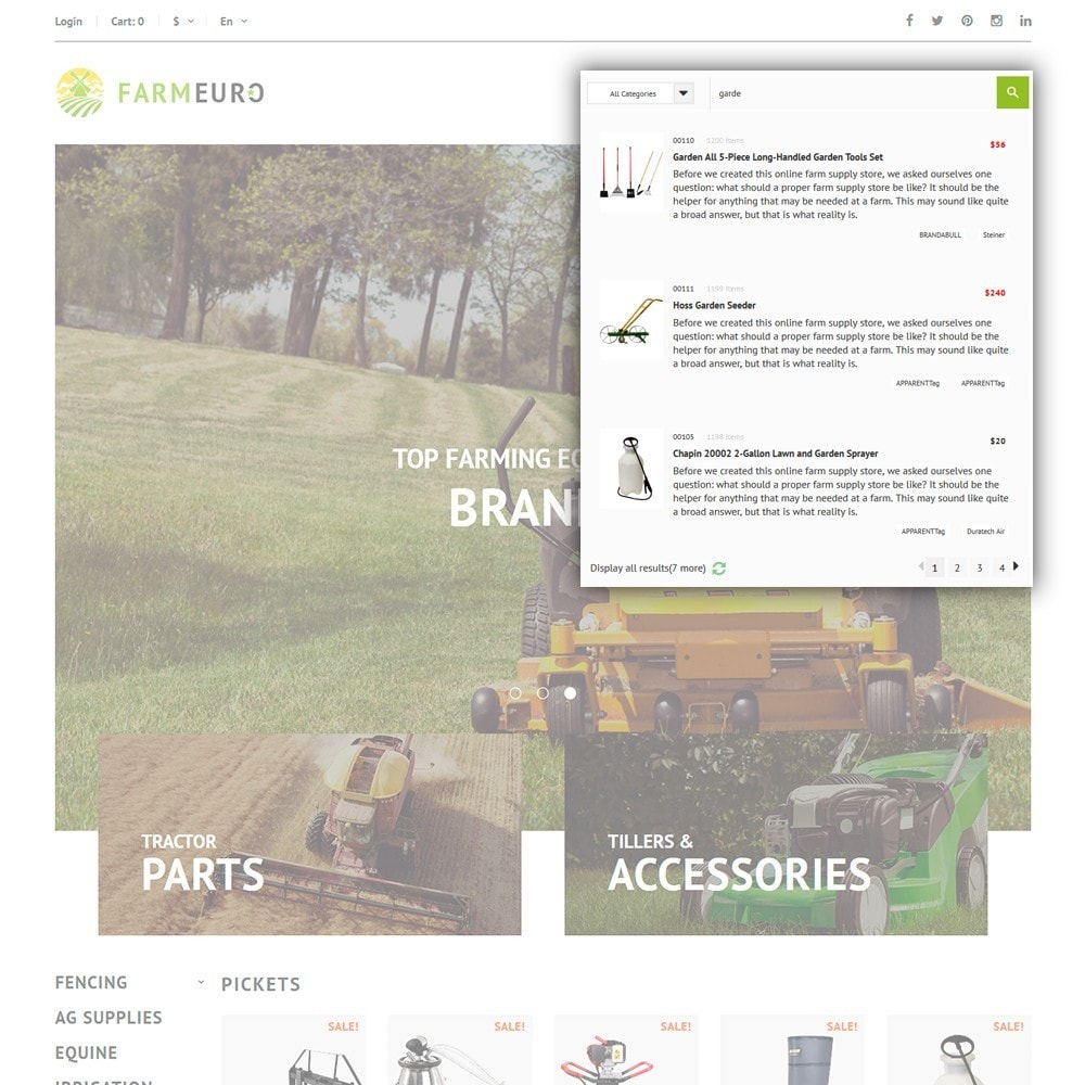 theme - Авто и Мото - FarmEuro - шаблон сельско-хозяйственных товаров - 6