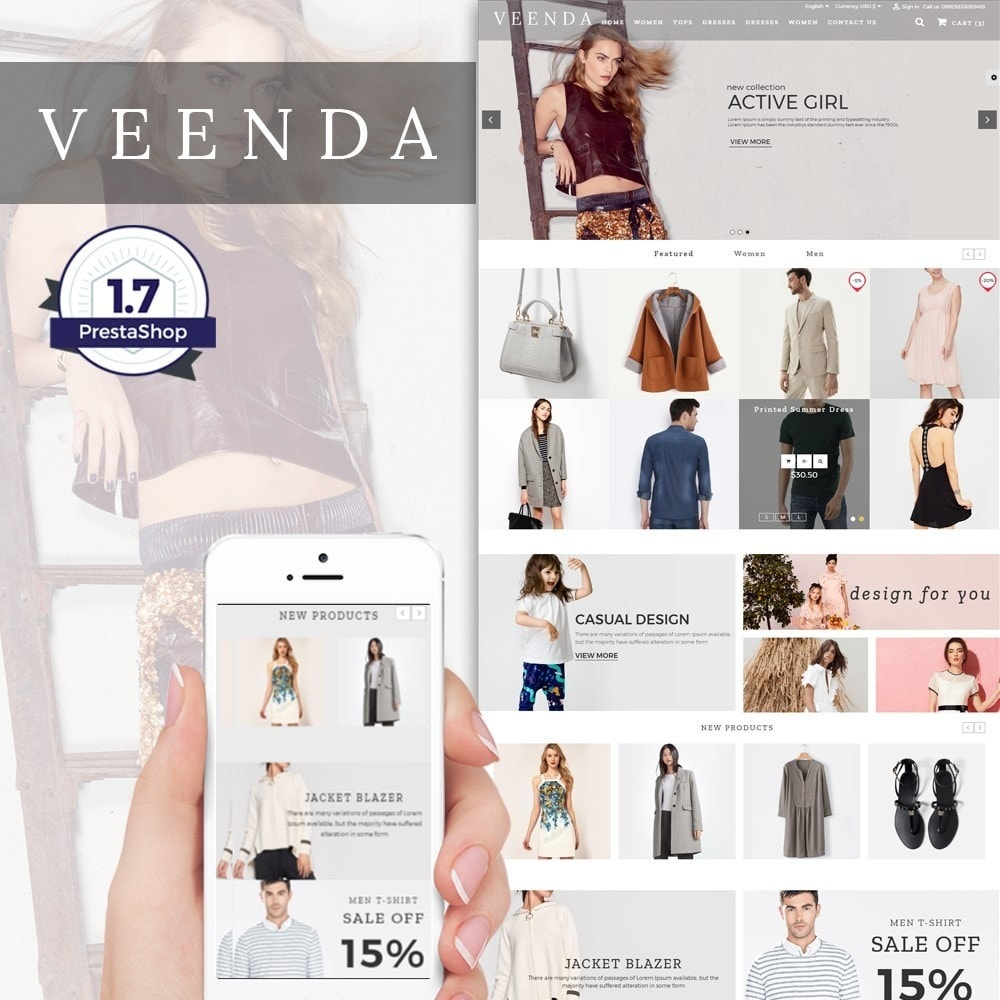 theme - Mode & Chaussures - Veenda Fashion Shop - 1