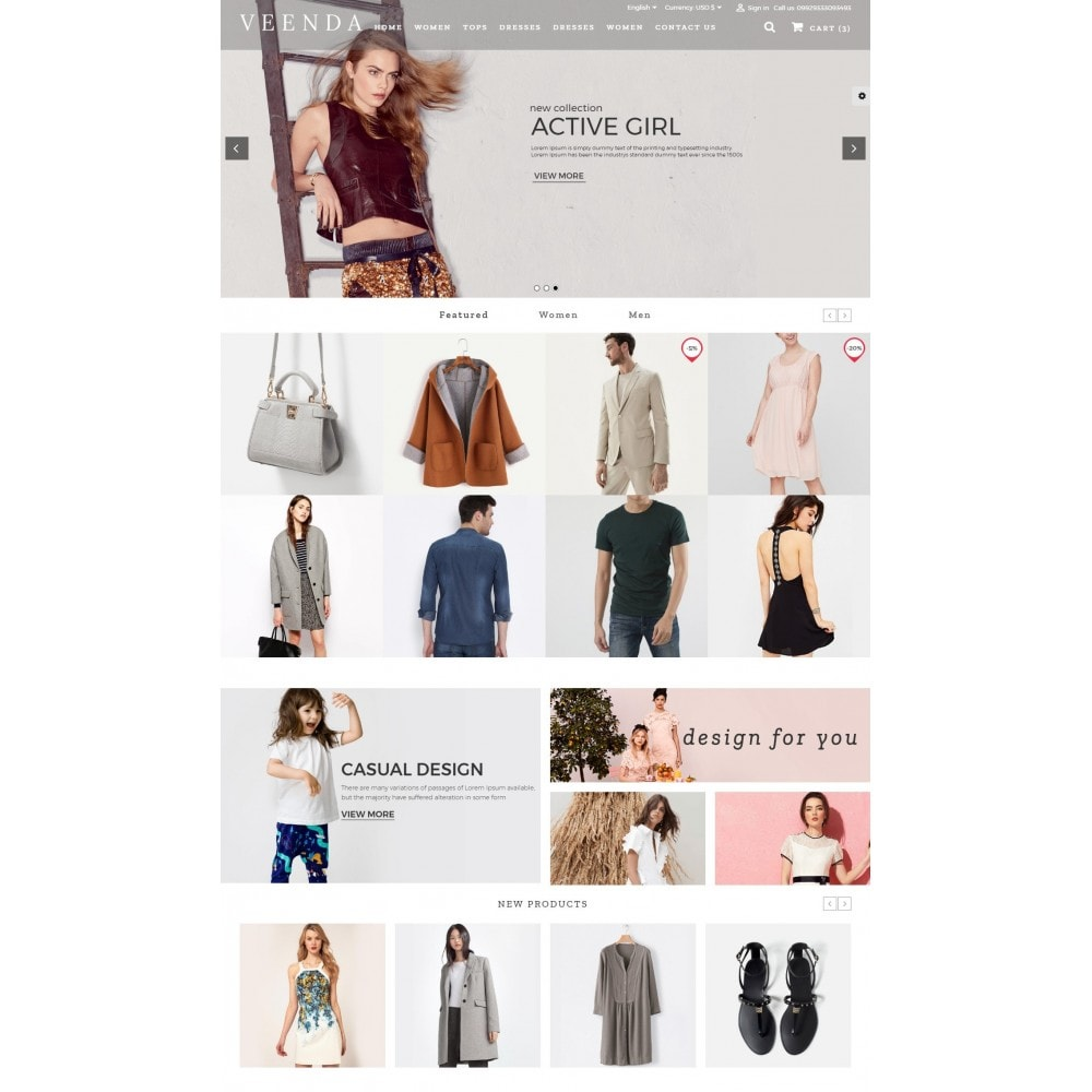 theme - Mode & Chaussures - Veenda Fashion Shop - 2