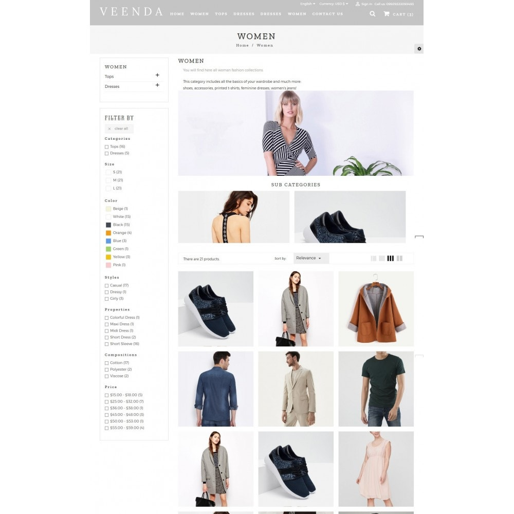 theme - Mode & Chaussures - Veenda Fashion Shop - 4