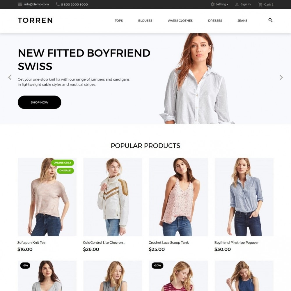 theme - Mode & Schoenen - Torren Fashion Store - 2