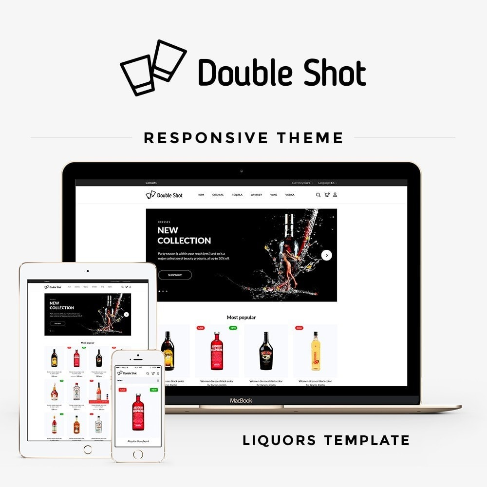 theme - Drink & Wine - Double shot Shop - 1