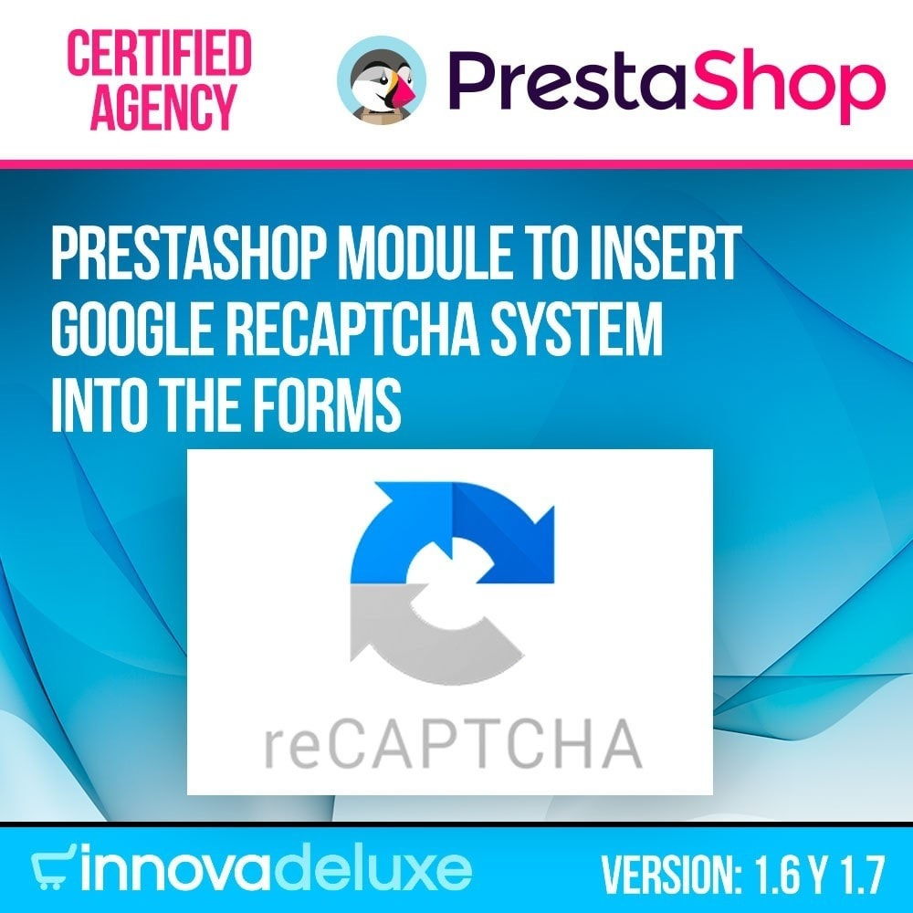 module - Security & Access - Add Google reCAPTCHA to store forms - 1