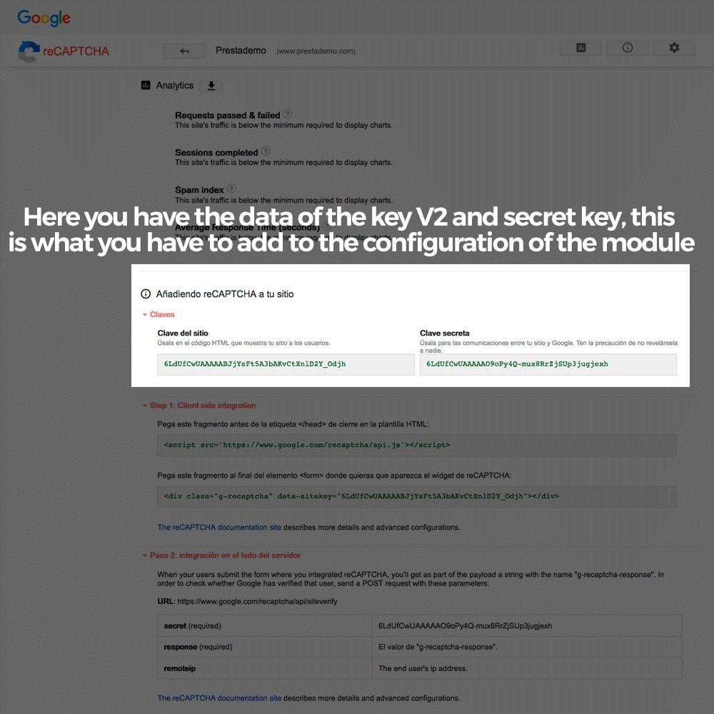module - Безопасности и доступа - Add Google reCAPTCHA to store forms - 6