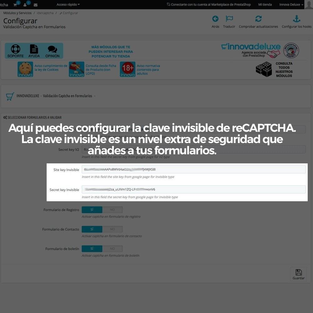 module - Seguridad y Accesos - Añadir Google reCAPTCHA a los formularios de la tienda - 7