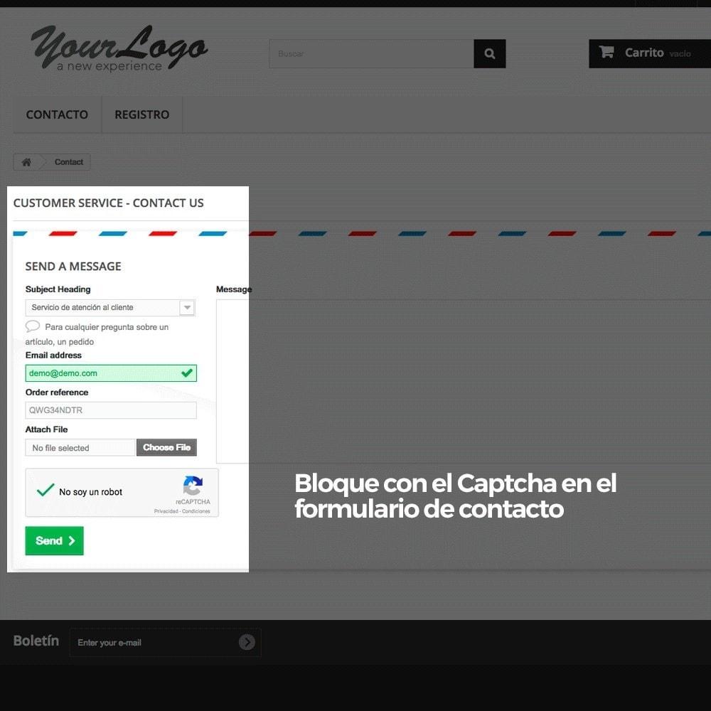 module - Seguridad y Accesos - Añadir Google reCAPTCHA a los formularios de la tienda - 14