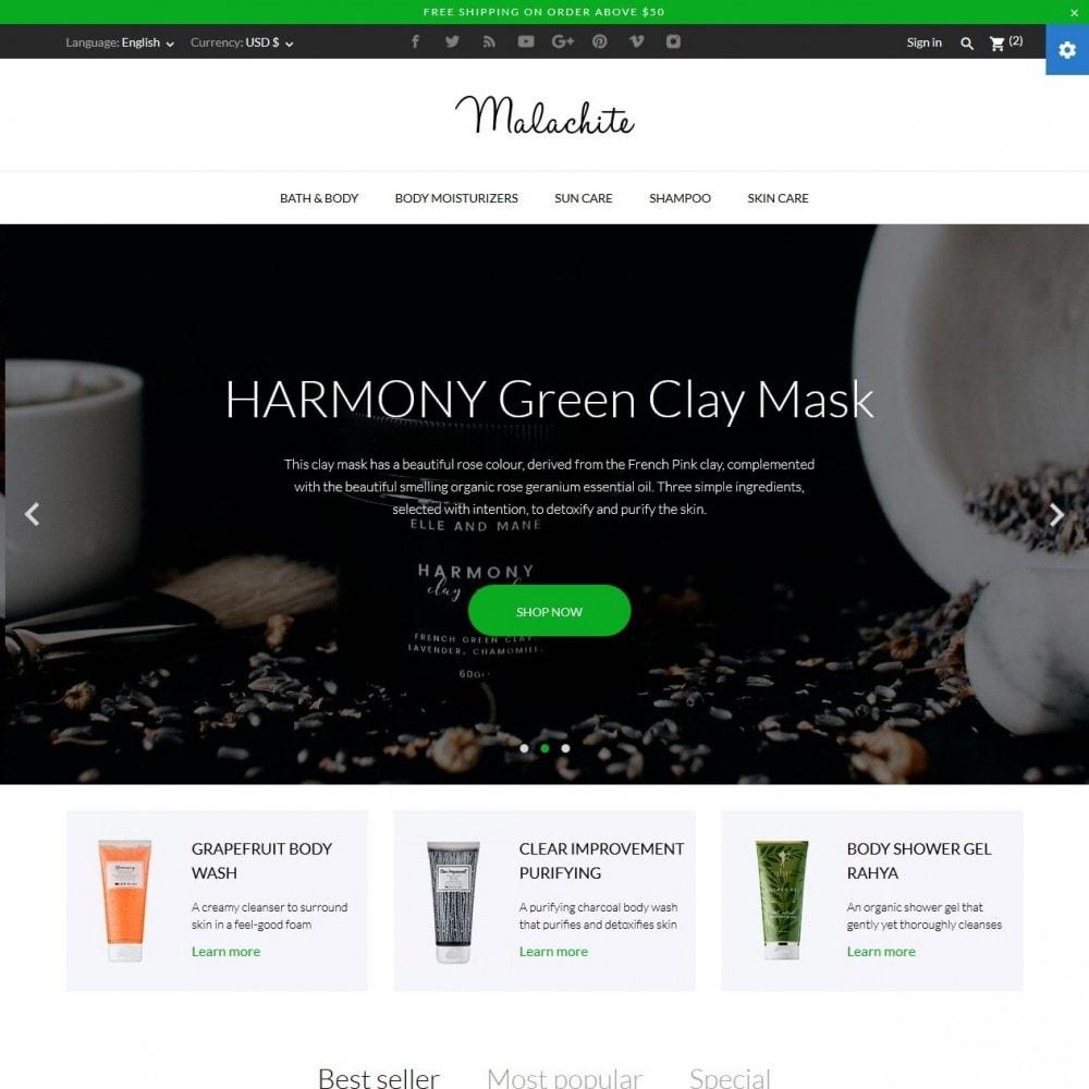 theme - Salute & Bellezza - Malachite Cosmetics - 2