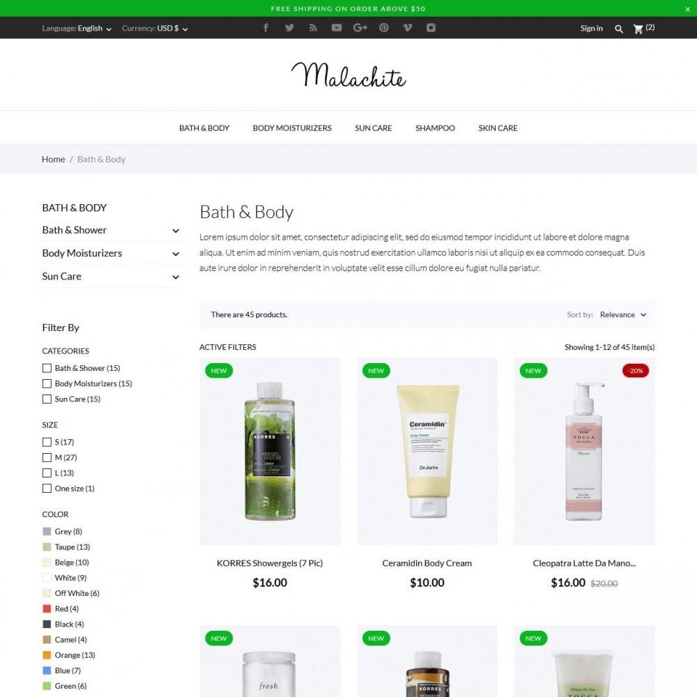 theme - Salud y Belleza - Malachite Cosmetics - 5