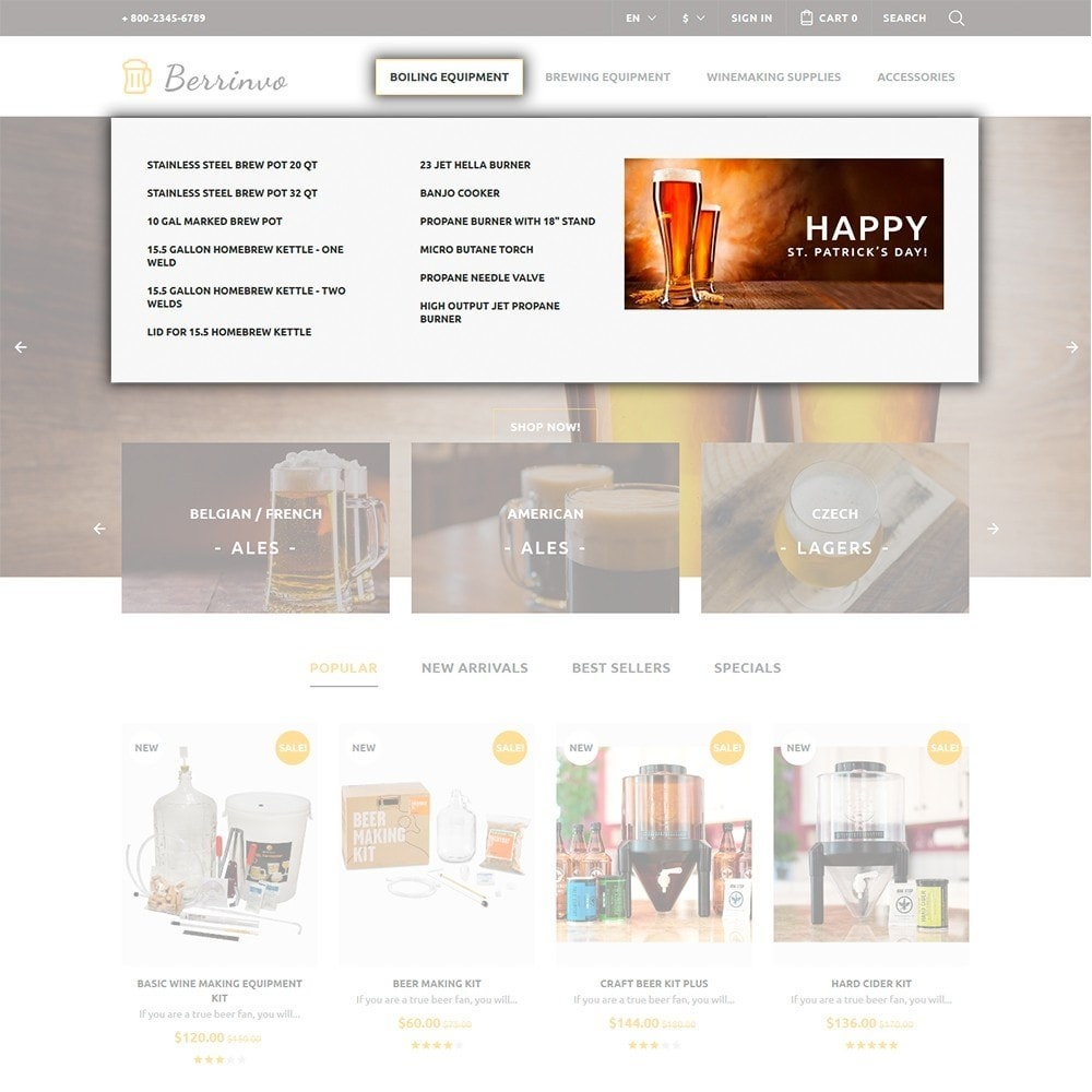 theme - Eten & Restaurant - Berrinvo - Brewery Responsive - 3