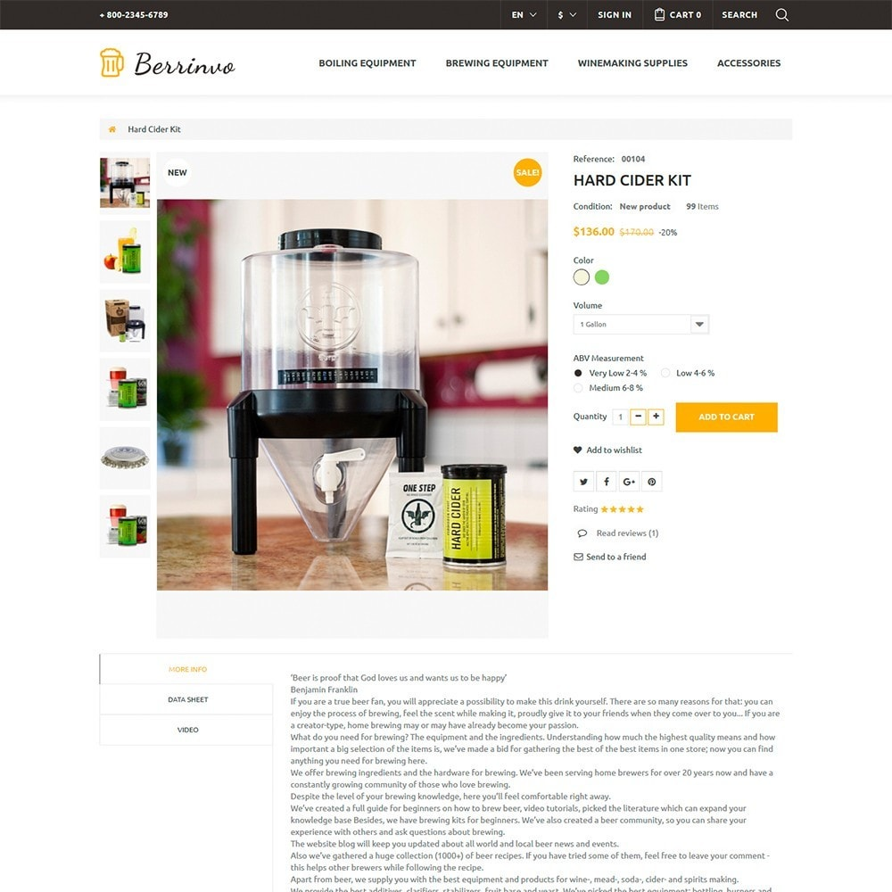 theme - Eten & Restaurant - Berrinvo - Brewery Responsive - 6