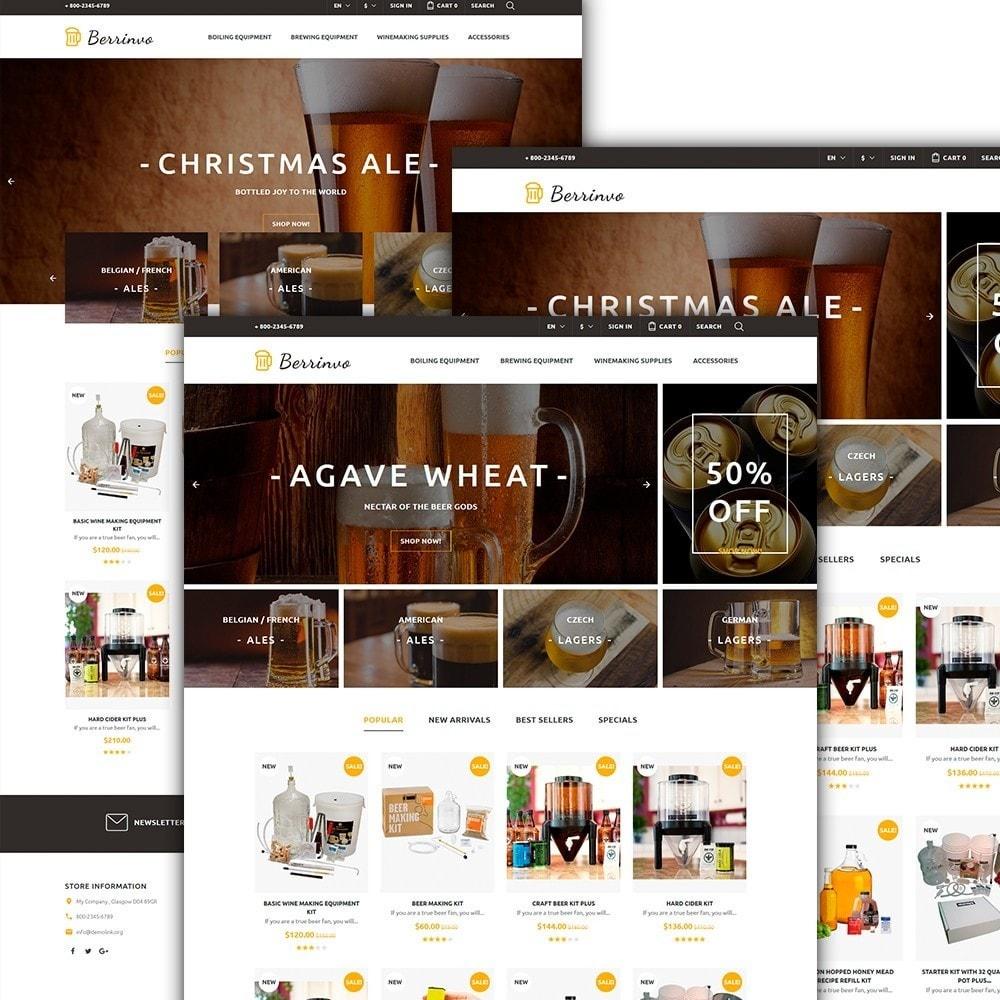 theme - Продовольствие и рестораны - Berrinvo - Адаптивный PrestaShop шаблон пивоварни - 2